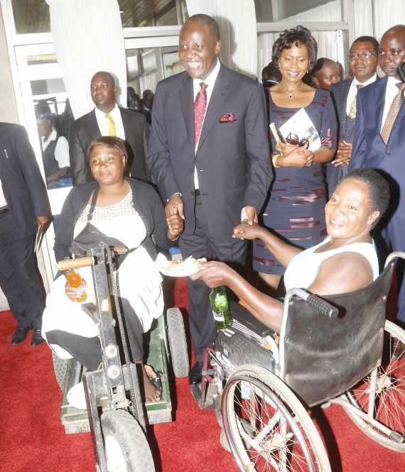 Finance Minister Felix Mutati interacting with some invited guests,
