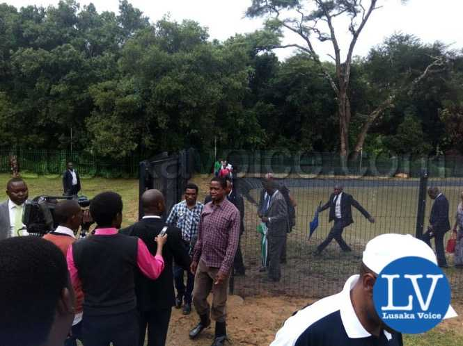President Lungu from touring his fish ponds at State Lodge housing