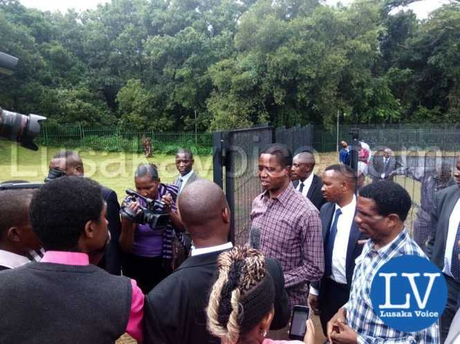President Lungu after touring his fish ponds at State Lodge housing