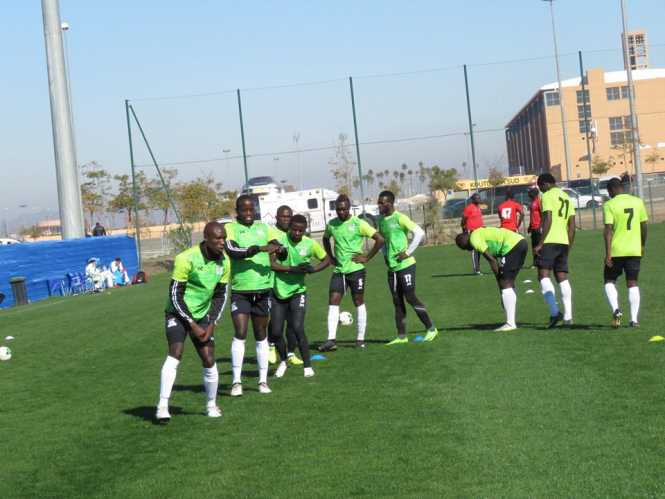 CHIPOLOPOLO IN TRAINING  for Saturday's the African Nations Championship (CHAN) against Sudan
