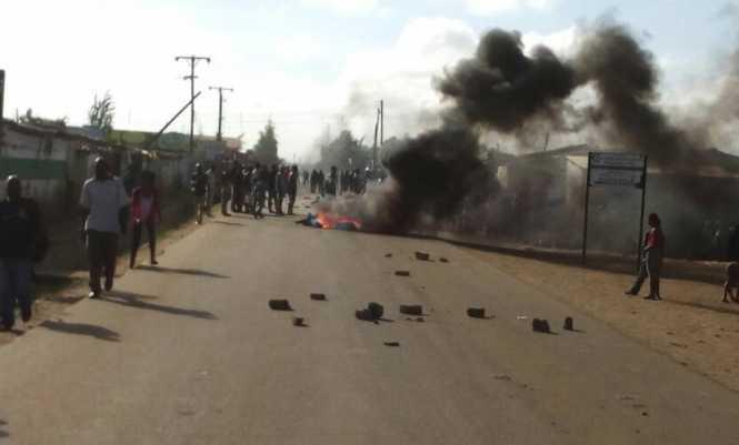Kanyama Riots, fires & teargas 2018-01-12
