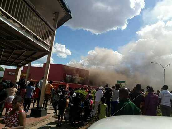 LIVINGSTONE firefighters were called to the scene after a fire began at a Hungry Lion, Livingstone outlet