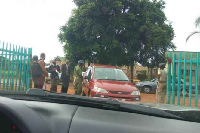Police screening at Lusaka magistrate court