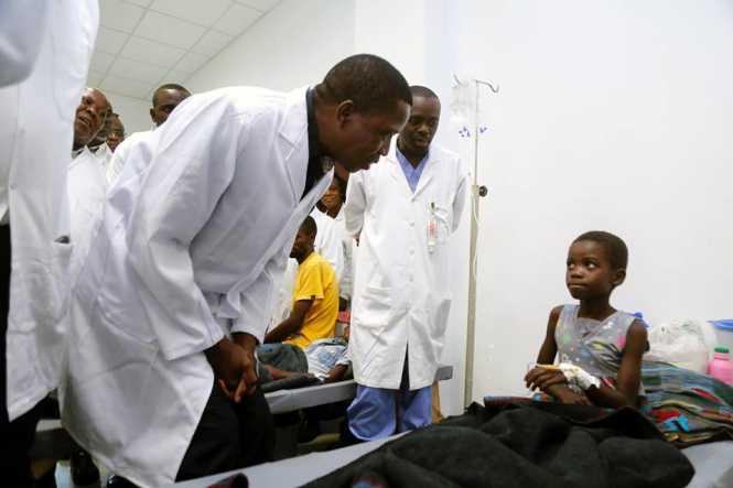 President Lungu's visit to the Heroes stadium, a Cholera centre