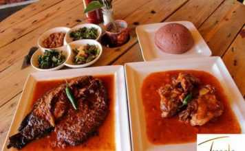 smoked fresh fish, Zambia.- Twaala Restaaurant