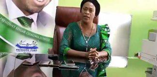 Patriotic Front Deputy Secretary General Mumbi Phiri